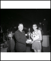 Bill Crothers receiving a trophy