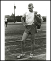 Bill Crothers standing on a track looking downward