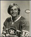 Guy Lafleur wearing his Montreal Canadiens' jersey