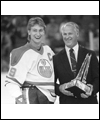Wayne Gretzky receiving the Emery Edge award